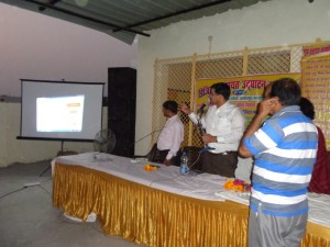 Website and facebook page launching by CDO Mr. Shambhoo ji at Sachendi Panchayat