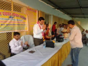 Welcome of Mr. Shambhoo Kr. in Sachendi Panchayat program
