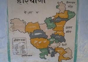 Map of Haryana in school
